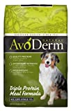 AvoDerm Natural Triple Protein Meal Formula Dog Food, 30-Pound, My Pet Supplies