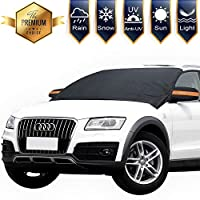 "Windshield Snow Ice Cover Magnetic Large Car Covers - Fit Any Car, SUV Truck with Mirror Snow Covers 82"" × 62"""