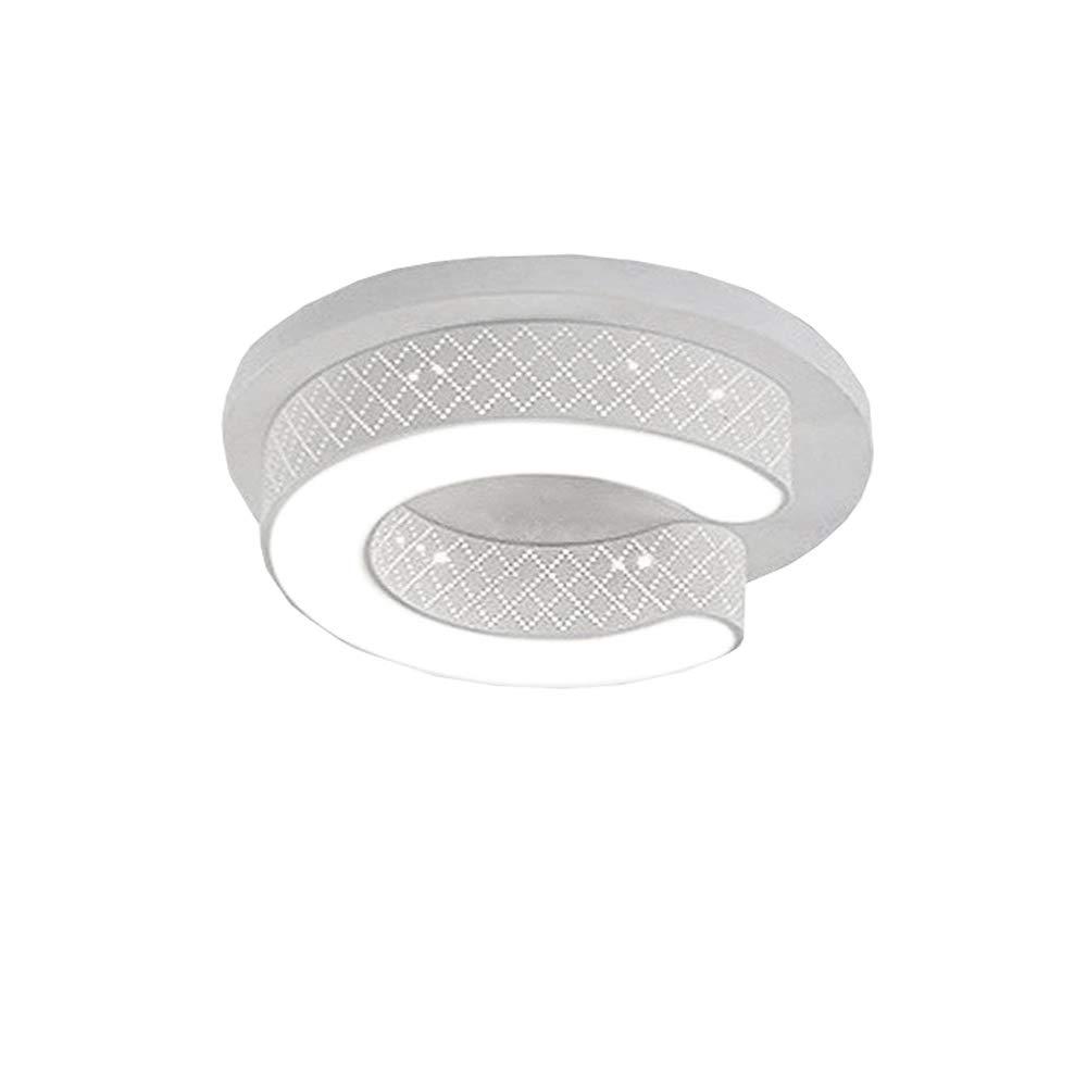 WYBAN Plafonniers en forme de C LED Lampe à économie d'énergie de panneau parfait pour le Salon Couloir Chambre Cuisine (Coquille:Blanc 36W Blanc froid)