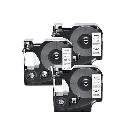 3x SZEHAM compatible DYMO D1 45013 S0720530 Cintas para ...