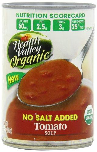 Долина здоровья Томатный суп без соли Added, 15 унция банок (Pack 12)