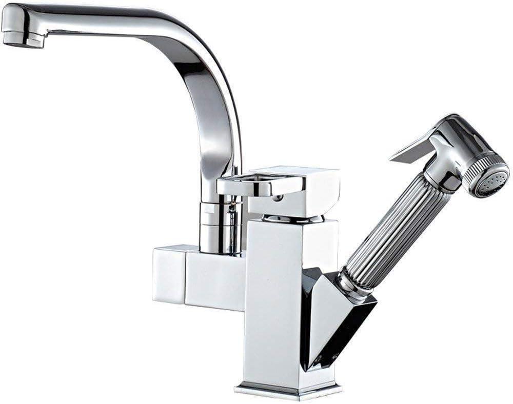 Mainstream home 360 /° Giratorio del Soporte de 3 v/ías para el Grifo de la Cocina Filtro de Agua Beige Cromo