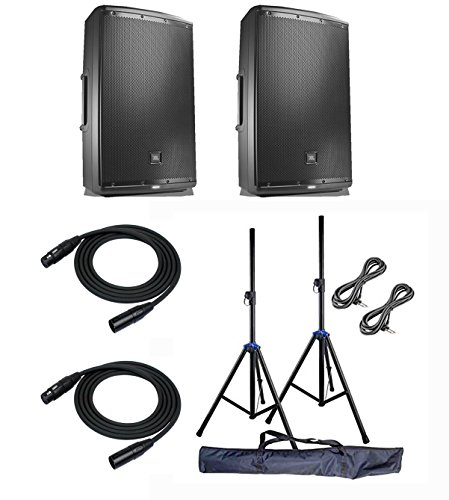 JBL EON612 Multipurpose Speaker Sound System Pair with Knox Heavy Duty Aluminum Speakers Stand and (Best Knox Speaker Stands)