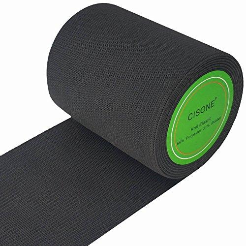 (Knit Elastic 3 Inch Wide Black Heavy Stretch High Elasticity Knit Elastic Band 3 Yards )