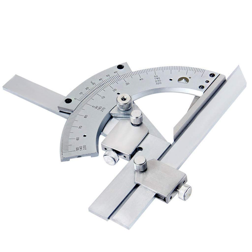 320° Stainless Steel Bevel Protractor Angle Finder Ruler Precision Universal Bevel Protractor Angle Finder Ruler