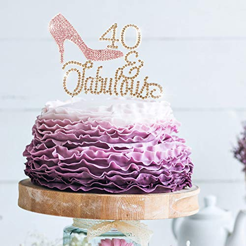 Sensational High Heel 40 Fabulous Pink And Gold Rhinestone Birthday Cake Personalised Birthday Cards Cominlily Jamesorg