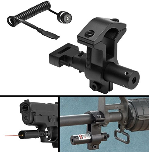 Ultimate Arms Gear Tactical Red Dot Laser Sight Kit with Pressure Switch, Trigger Guard Mount & Barrel Mount For AR15 AR-15 M4 M-4 M16 M-16 .223 5.56 .308 4/15-16 Rifle