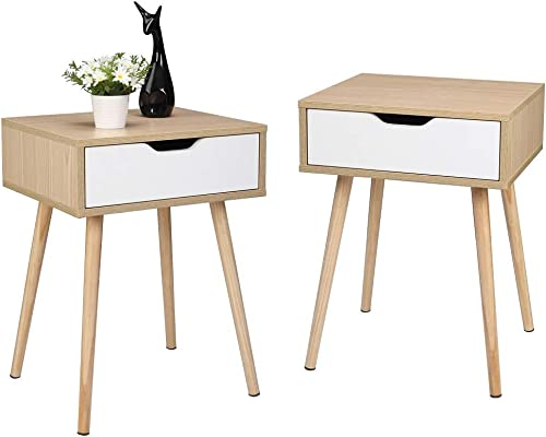 Bonnlo Nightstand Set of Two End Side Table