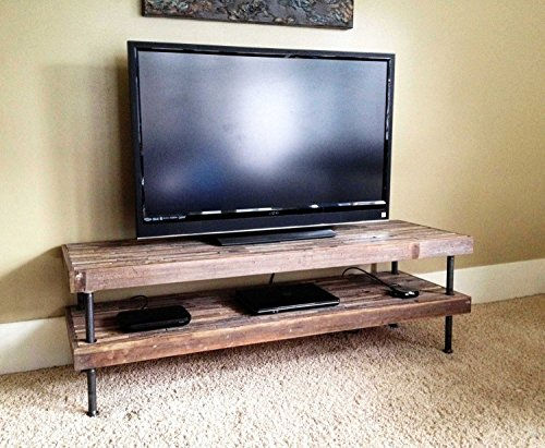 Vintage and Modern Mosaic Table – TV Stand – Media Center – Console Table – Reclaimed Rustic Wood with Steel Pipe Legs Review