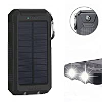 Solar Power Bank 20000mAh, Solar Charger...