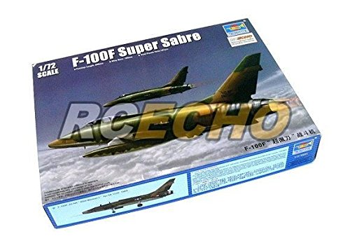 RCECHO® TRUMPETER Aircraft Model 1/72 F-100F Super Sabre Scale Hobby 01650 P1650 with RCECHO® Full Version Apps Edition