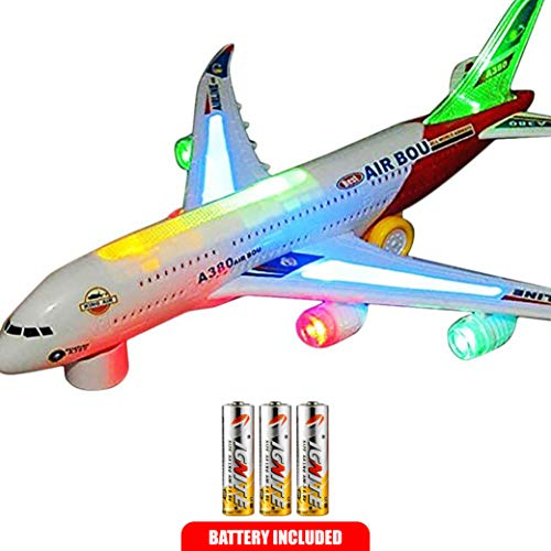 Toysery Airplane Airbus Toy With Beautiful Attractive Flashi