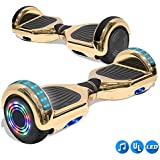 CHO Electric Smart Self Balancing Scooter Hoverboard Built-in Speaker Wheels Side Lights- UL2272 Certified (_Chrome Gold)