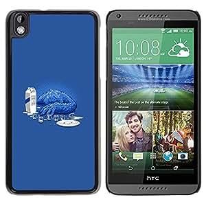 EJOY---Cubierta de la caja de protección la piel dura para el / HTC DESIRE 816 / --Cookie Monster Sad divertido