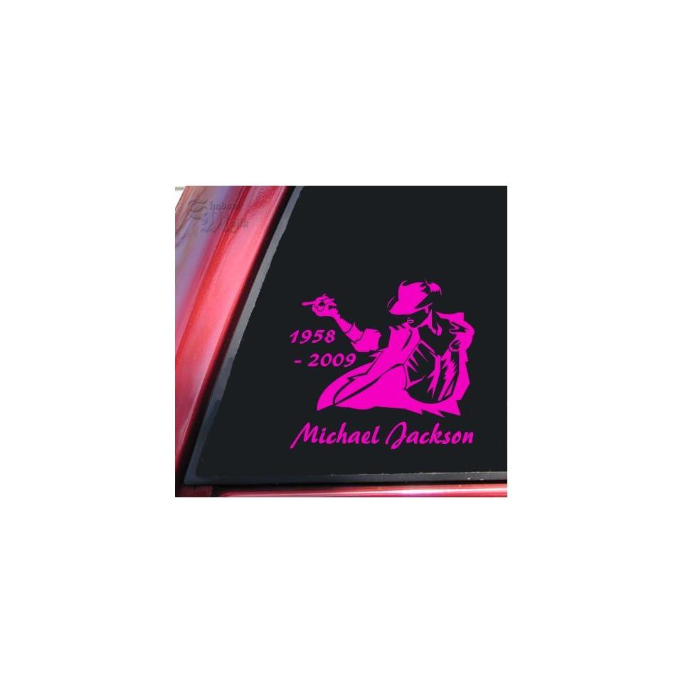 Michael Jackson 1958   2009 Vinyl Decal Sticker   Hot Pink