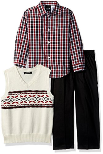 - TFW Dresswear Boys' Little Sweater Vest Set, fair isle Black 5