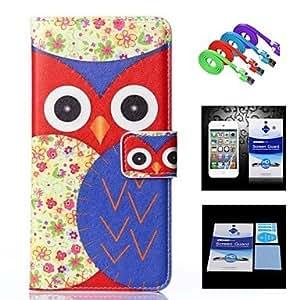 GX Carcasas de Cuerpo Completo - Diseño Especial - para iPhone 6 Plus ( Multicolor , Cuero PU )