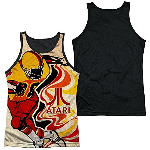 Official Atari Football Adult Tank Top with Black Back - S to 3XL