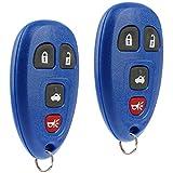 key for pontiac g6 blue - Key Fob Keyless Entry Remote fits Chevy Cobalt Malibu / Buick Allure Lacrosse / Pontiac G5 G6 Grand Prix Solstice / Saturn Aura Sky 2005 2006 2007 2008 2009 2010 2011 2012 (15252034 Blue), Set of 2