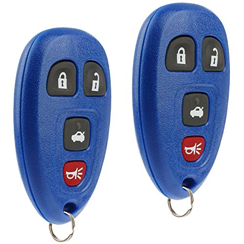 Key Fob Keyless Entry Remote fits Chevy Cobalt Malibu / Buick Allure Lacrosse / Pontiac G5 G6 Grand Prix Solstice / Saturn Aura Sky 2005 2006 2007 2008 2009 2010 2011 2012 (15252034 Blue), Set of 2 ()