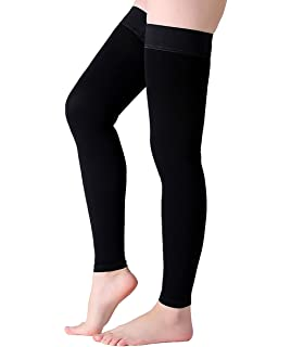 4c8e99a3d8023f Thigh High Compression Stockings, Footless Compression Sleeves, Firm Support  20-30 mmHg Gradient