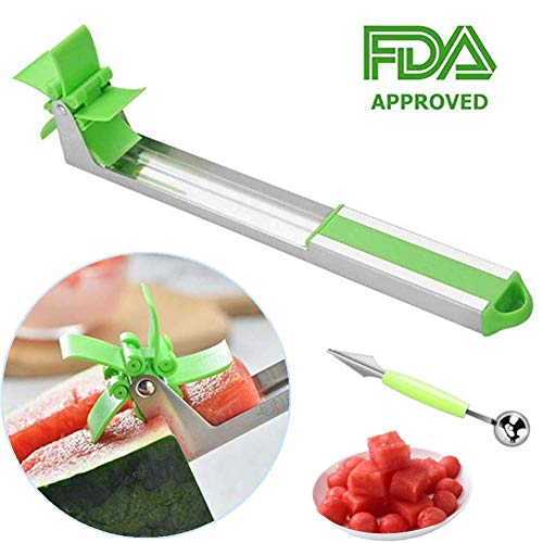 Stainless Steel Watermelon Slicer Cutter Knife Corer Fruit Vegetable Tools Kitchen Gadgets 2019 NEW DESIGN (1 Pcs)