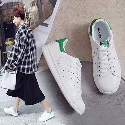 Sneaker da Uomo Adulto Scarpe Unisex Donna populalar Tela Lace Ginnastica da EU Traspirante Up Basse 44 Basse 34 Scarpe Verde Ginnastica w5n76nxY0