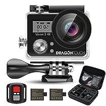 Dragon Touch Vision3 4K アクション カメラ 1600万画素 30メート...