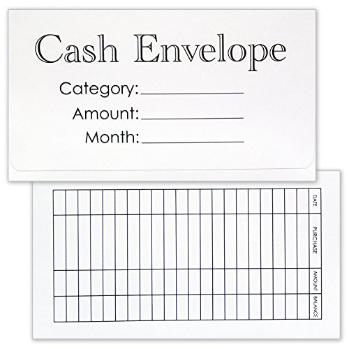 Cash Envelope System - 24 Pack Money Budgeting Envelopes