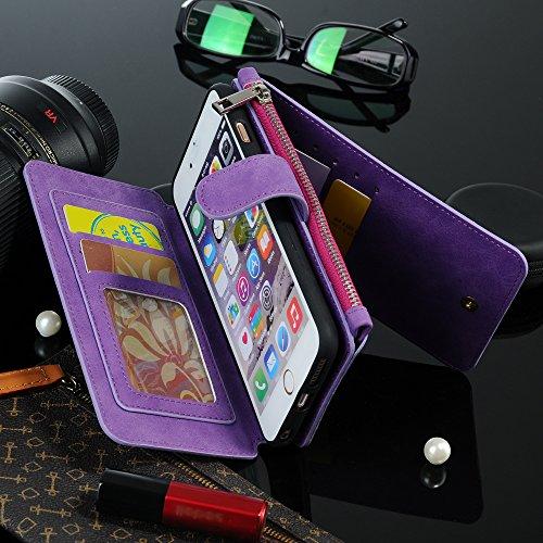 iPhone 6S Plus Case, iPhone 6 Plus Case, iNNEXT [Folio]-[CARD SLOT]-Premium Leather...