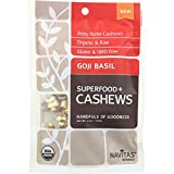 Navitas Naturals Organic Gojo Basil Superfood Plus Cashews, 4 Ounce - 12 per case.