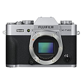 """Fujifilm X-T20 24 MP Mirrorless Camera Body Only (APS-C X-Trans CMOS III Sensor, Electronic Viewfinder, 3"""" Tilt Touchscreen, AF Modes, 4K Video, Film Simulation Modes, Advanced Filters) - Silver 7"""