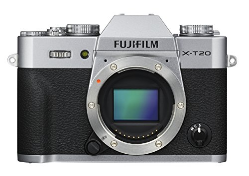 """Fujifilm X-T20 24 MP Mirrorless Camera Body Only (APS-C X-Trans CMOS III Sensor, Electronic Viewfinder, 3"""" Tilt Touchscreen, AF Modes, 4K Video, Film Simulation Modes, Advanced Filters) - Silver 1"""