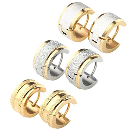 18G Stainless Steel Small Hoop Huggie Hinge Stud Earrings