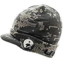 HSBD441 HALO 5 UNSC DIGITAL CAMO CUFF VISOR BILLED BEANIE KNIT HAT CAP