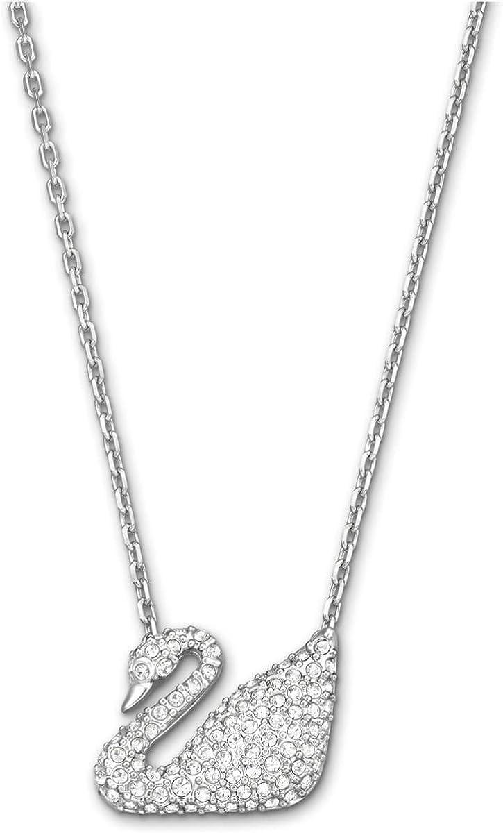 El actual gravedad Médico  Amazon.com: Swarovski Crystal Swan Necklace: Pendant Necklaces: Jewelry