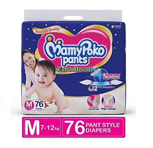 MamyPoko Pants Extra ADSORB Diaper M  76 Pieces