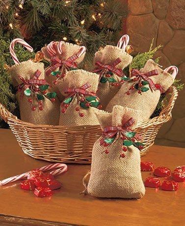 Fabric Christmas Treat Bags - 6