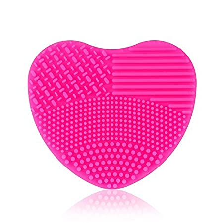 Sunsbell Makeup Brush Cleaning Mat Cosmetic Makeup Brush Finger Glove Silicone Scrubber Board Hand Cleaning Tools (Blue)