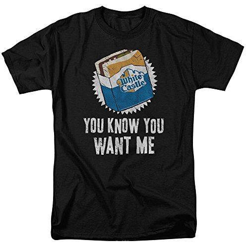 White Castle Fast Food Chain Hamburger Joint You Know You Want Me Adult T-Shirt