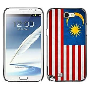 Paccase / SLIM PC / Aliminium Casa Carcasa Funda Case Cover - National Flag Nation Country Malaysia - Samsung Note 2 N7100