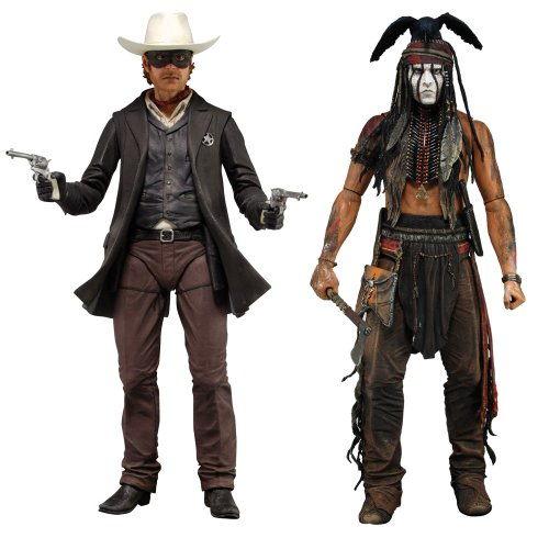 (NECA The Lone Ranger - 734; Deluxe Scale Action Figure (Set of 2))