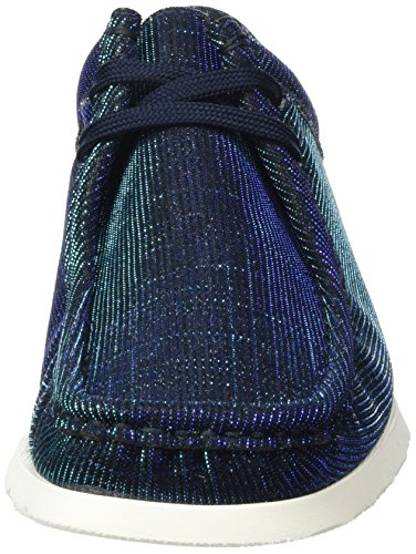 Sioux Grashopper-d-141, Mocasines para Mujer Blau (Blue-black-aqua)
