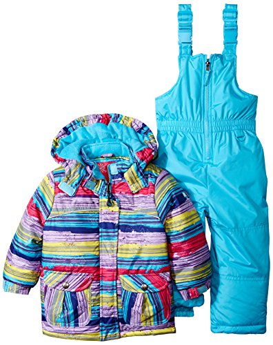 Rugged Bear Little Girls' Toddler Snowsuit with Striped C...