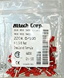 ALTECH 2204.0/100 Red Ø4 x 14 mm 16 AWG H1.50/8 Insulated Industry Standard Ferrule - 100 Item(s)