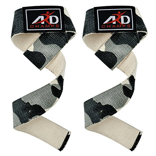 ARD Power Hand Bar Straps Weight Lifting Cotton Straps Strenthen Training Workouts Camouflage