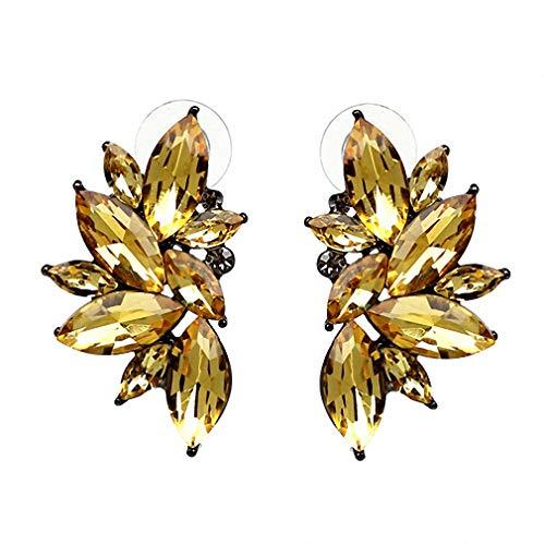 Vintage Design Crystal Earrings Women Statement Stud Earrings Women Earrings Jewelry Gold