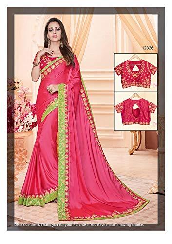Design Dress Etnico Di Firmata Camicetta In Con Indian Sari Lavoro Bollywood 7281 Fresco Abbigliamento Indiano Raso Seta Saree Pesante wvTt6q6xY