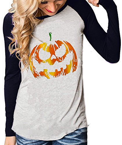 Women Long Sleeve Halloween Shirt