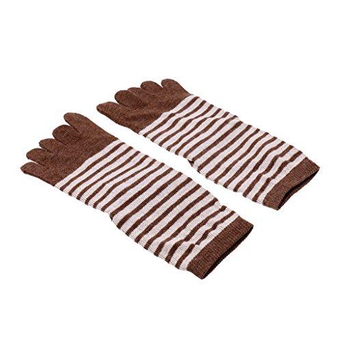 de Elasticidad Calcetines Extra Pies Encaje Bien marrón Dedos Ajustable Gazechimp de Caliente marrón Duradero Comodidad qFwt8Ux
